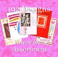 7127 - 192 Design Valentine Assortment (8 feet) packed in 3's