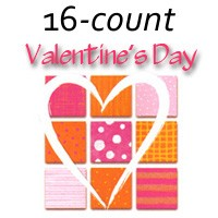 7121 - 16 design Valentine Assort pkd 3's - 25% discount off wholesale