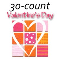 7123 - 30 design Valentine Assort pkd 3's with additional 25% discount off wholesale