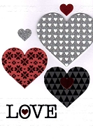 7811 - $5.99 Retail Each - Valentine Love Greeting Cards - English Language PKD 3