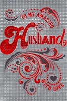 7833 - $3.99 Retail Each - Valentine Husband Greeting Cards English Language PKD 3