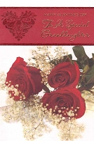 7853 - $3.99 Retail Each - Valentine Granddaughter Greeting Cards - English Language PKD 3