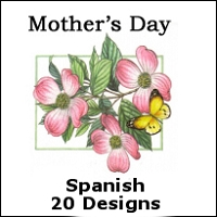 8258 - 20 design Assortment Value Spanish Mother's Day pkd 6's and Cello-wrapped