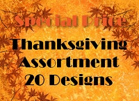 THG20 - 20 designs Premium Thanksgiving Greeting Cards PKD 3 - 25% extra discount off the wholesale price.