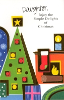 9538 - $3.29 Retail Each - Christmas Daughter Greeting Cards PKD 6