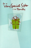 9597 - $3.29 Retail Each - Christmas Sister & Family Greeting Cards PKD 6