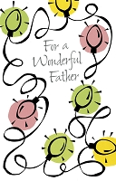 9596 - $2.50 Retail Each - Christmas Father Greeting Cards PKD 6
