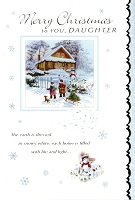 9614 - $3.49 Retail Each - Christmas Daughter Greeting Cards PKD 6