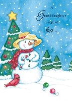 9650 - $3.25 Retail Each - Christmas Granddaughter Juvenile Greeting Cards PKD 6
