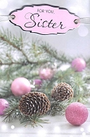 9620A - $5.99 Retail Each - Christmas Sister Greeting Cards PKD 3