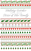 9623 - $2.50 Retail Each - Christmas Sister & Family Greeting Cards PKD 6