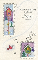9624 - $2.50 Retail Each - Christmas Sister Greeting Cards PKD 6