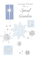 9638 - $2.50 Retail each - Christmas Grandson Greeting Cards PKD 6
