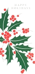 9706 - $2.50 Retail Each - Happy Holidays Money Holder Greeting Cards PKD 6