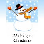 9887 - 25 Designs of Christmas Cards. 6 of Each Design. English Assort - discounted extra 30% - 45% off wholesale
