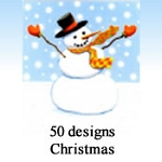 9888 - 50 Designs of Christmas Cards. 6 of each design. English Assortment. Discounted 30% - 45% off wholesale