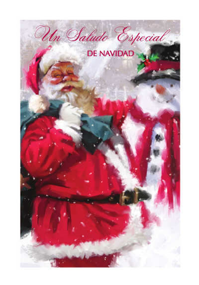 wholesale Spanish language Christmas cards