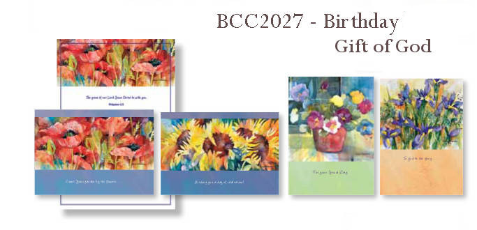 Birthday Floral Religious Boxed Cards