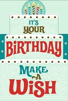 BIG04 - $8.99 Retail Each - Jumbo Card Birthday General PKD 6