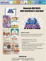 BIG10 - $8.99 Retail Each - Jumbo Card Assortment - 3 each of 6 designs for total of 18 Cards