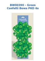 BW008 - Green Confetti Bows 2 pack - PKD 12
