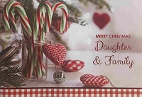 CH118 - $3.99 Retail Each - Christmas Daughter & Family Greeting Card - PKD 6