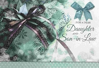 CH119 - $3.99 Retail Each - Christmas Daughter & Son-in-Law Greeting Card - PKD 6