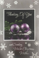 CH164 - $3.99 Retail Each - Christmas General Thinking of You Greeting Card - PKD 6