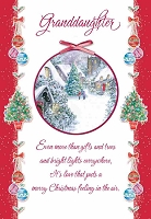 CH175 - $2.80 Retail Each - Christmas Grandaughter Greeting Card - PKD 6