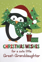 CH179 - $3.99 Retail Each - Christmas Great-Grandauughter Juvenile Greeting Card - PKD 3
