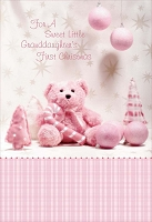 CH185 - $3.99 Retail Each - Christmas Granddaughter's First Greeting Card - PKD 3
