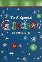 CH200 - $3.99 Retail Each - Christmas Grandson Teen Greeting Card - PKD 6