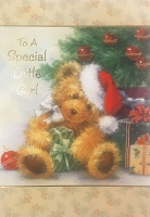 CH220 - $2.80 Retail Each - Christmas Juvenile Girl Greeting Card - PKD 6