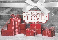 CH221 - $5.99 Retail Each - Christmas Love Greeting Card - PKD 3