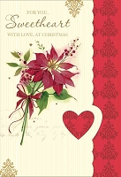 CH227 - $3.99 Retail Each - Christmas Sweetheart Greeting Card - PKD 6
