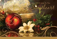 CH229 - $3.99 Retail Each - Christmas Sweetheart Greeting Card - PKD 6