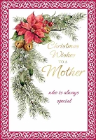 CH243 - $3.99 Retail Each - Christmas Mother Greeting Card - PKD 6