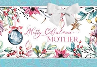 CH245 - $5.99 Retail Each - Christmas Mother Greeting Card - PKD 3