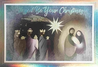 CH271 - $5.99 Retail Each - Christmas Religious Greeting Card - PKD 3