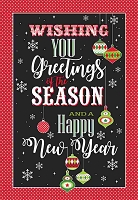 CH273 - $2.80 Retail Each - Christmas Seasons Greetings Greeting Card - PKD 6