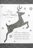 CH293 - $3.99 Retail Each - Christmas Son & Family Greeting Card - PKD 6