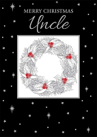 CH297 - $3.49 Retail Each - Christmas Uncle Greeting Card - PKD 3