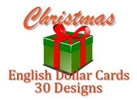 DCX1001 - 30 Designs Christmas English Dollar Card Assort PKD 6's