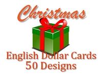 DCX1002 - 50 Designs Christmas English Dollar Card Assort PKD 6's