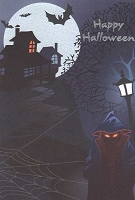 HAL03 - $3.99 Retail Each - Halloween Greeting Cards General PKD 3