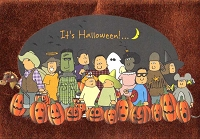 HAL04 - $3.49 Retail Each - Halloween Juvenile Greeting Cards PKD 3