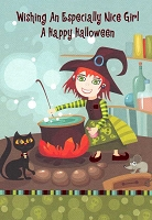 HAL05 - $2.80 Retail Each - Halloween Juvenile Girl Greeting Cards PKD 3