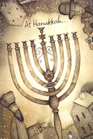 HAN08 - $2.80 Retail Each - Chanukah General Greeting Cards PKD 6