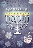 HAN09 - $2.80 Retail Each - Hanukkah General Greting Cards PKD 6