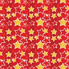 RW1018- Stars Roll Wrap packed in 10's